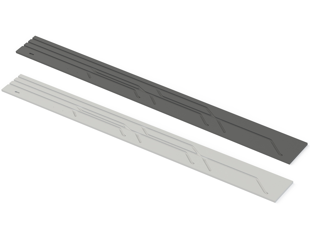 Assunta 40 - Side guide rails black or white