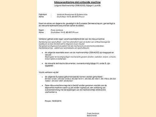 CE document nl