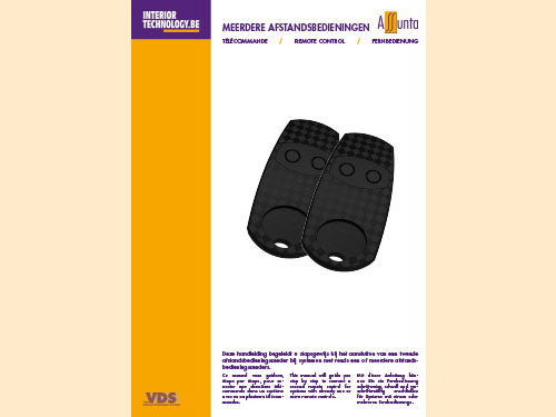 Manual for programming additional remote control NL