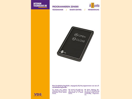 Manual for programming new remote control NL