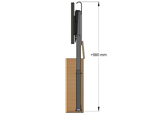 Maximum height of cabinet