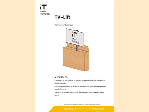 TV lift technical specifications XL FR